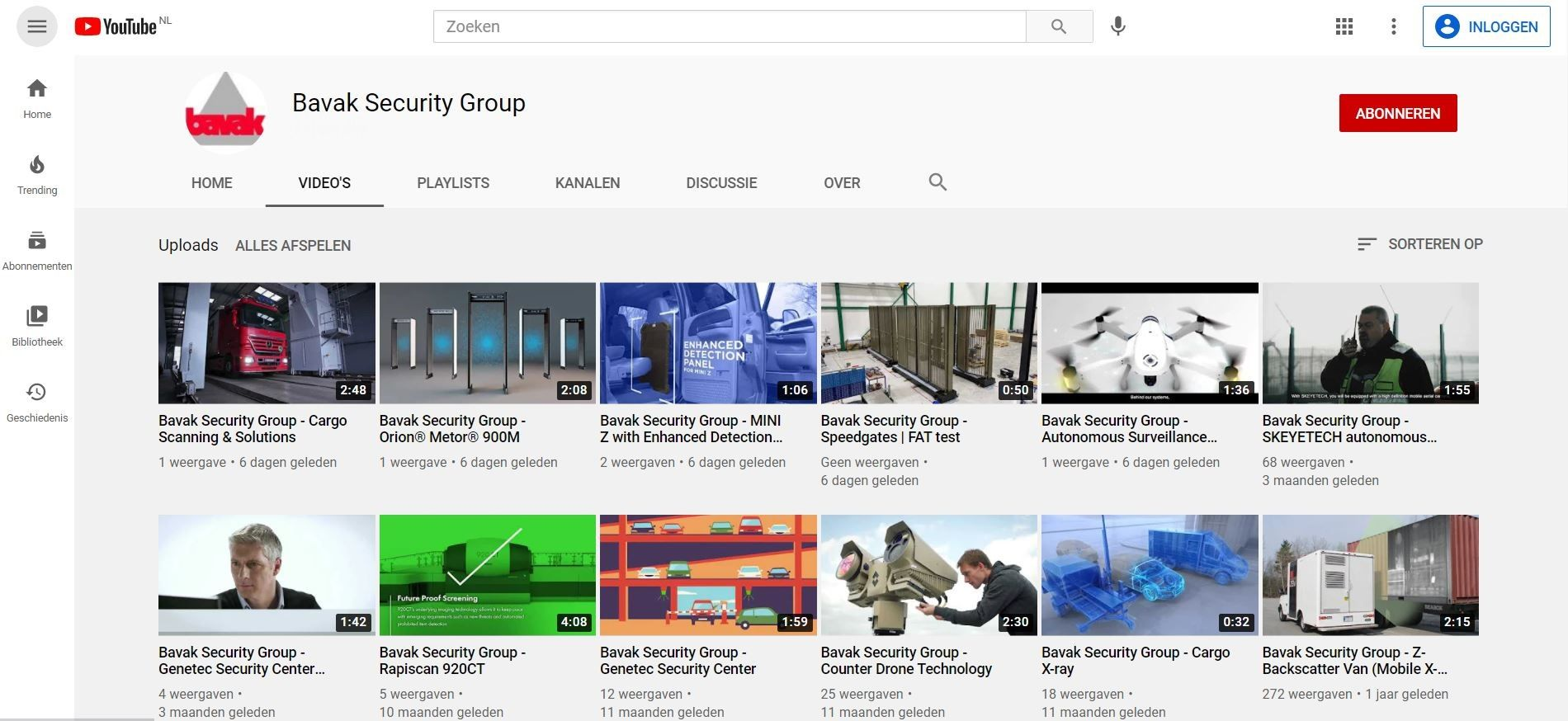 Bavak Security Group on YouTube